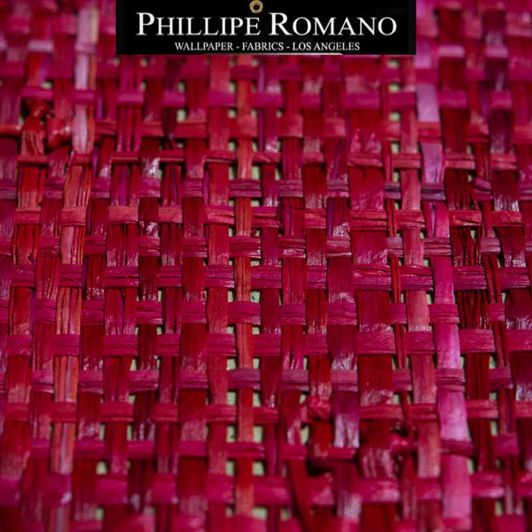 Heavy Madagascar Cabana Red by Phillipe Romano Naturals Raffia Wallpaper - Milano Madagascar Collection