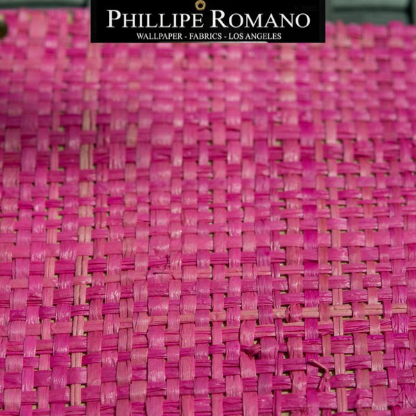 Heavy Madagascar Paradise Pink by Phillipe Romano Naturals Raffia Wallpaper - Milano Madagascar Collection
