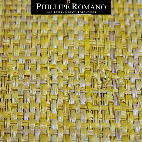 Heavy Madagascar Yacht Yellow by Phillipe Romano Naturals Raffia Wallpaper - Milano Madagascar Collection