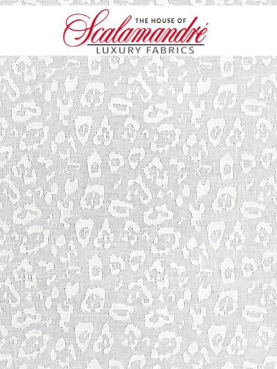 LEOPARD LINEN SHEER - IVORY - FABRIC - 27054-001 at Designer Wallcoverings and Fabrics, Your online resource since 2007