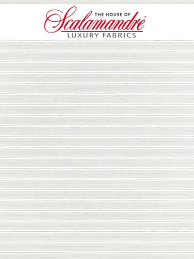 HARBOR STRIPE SHEER - WHELK - Scalamandre Fabrics, Fabrics - 27200-001 at Designer Wallcoverings and Fabrics, Your online resource since 2007