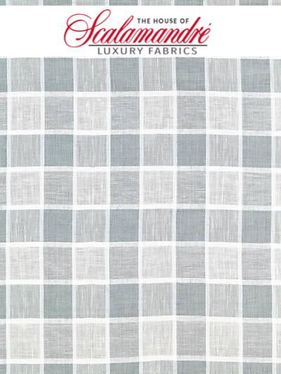 WAINSCOTT CHECK SHEER - HAZE - FABRIC - 27043-002 at Designer Wallcoverings and Fabrics, Your online resource since 2007