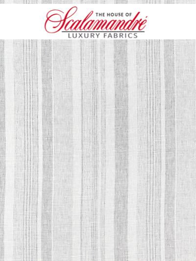 MONTAUK STRIPE SHEER - FOG - FABRIC - 27046-002 at Designer Wallcoverings and Fabrics, Your online resource since 2007