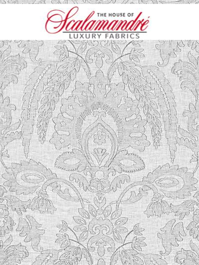 LIA DAMASK SHEER - HAZE - FABRIC - 27053-002 at Designer Wallcoverings and Fabrics, Your online resource since 2007