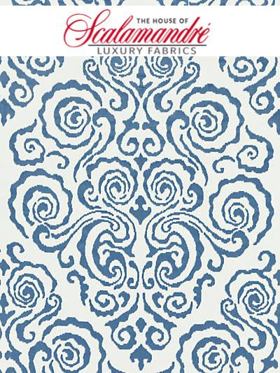 CIRRUS VELVET DAMASK - MORNING GLORY - Scalamandre Fabrics, Fabrics - 27219-002 at Designer Wallcoverings and Fabrics, Your online resource since 2007