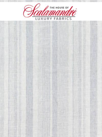 MONTAUK STRIPE SHEER - CHAMBRAY - FABRIC - 27046-003 at Designer Wallcoverings and Fabrics, Your online resource since 2007