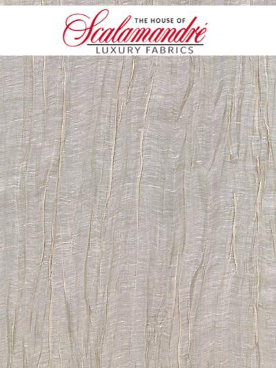 PLEATED LINEN SHEER - GREIGE - FABRIC - 27052-003 at Designer Wallcoverings and Fabrics, Your online resource since 2007