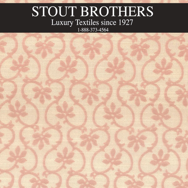 7615-05 FLORAL SCROLL by Stout Brothers - Designer Wallcoverings and Fabrics