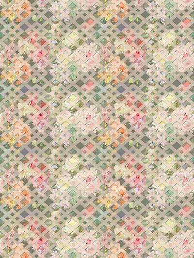 DEFOSSE TRELLIS - AZALEA - NICOLETTE MAYER WALLPAPER - WNM0001DEFO at Designer Wallcoverings and Fabrics, Your online resource since 2007