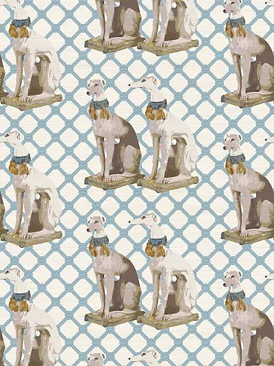 REGAL GREYHOUND - WYETH - NICOLETTE MAYER WALLPAPER - WNM0001REGA at Designer Wallcoverings and Fabrics, Your online resource since 2007