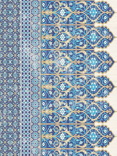 TOPKAPI BORDER - CLASSIC - NICOLETTE MAYER WALLPAPER - WNM0001TOPB at Designer Wallcoverings and Fabrics, Your online resource since 2007