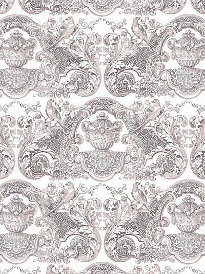 WILLIAM & MARY - FRENCH GRAY - NICOLETTE MAYER WALLPAPER - WNM0001WMMY at Designer Wallcoverings and Fabrics, Your online resource since 2007