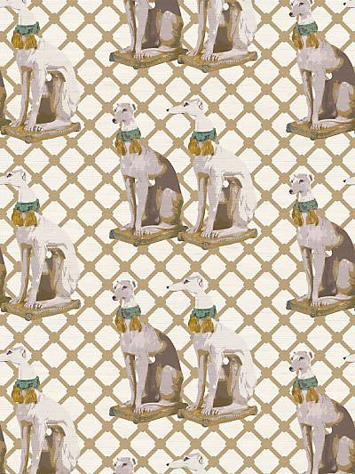 REGAL GREYHOUND - LUXE - NICOLETTE MAYER WALLPAPER - WNM0002REGA at Designer Wallcoverings and Fabrics, Your online resource since 2007