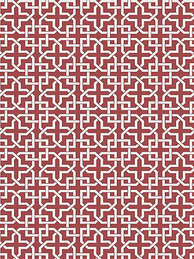 INFINITY - BRICK RED - NICOLETTE MAYER WALLPAPER - WNM0006INFI at Designer Wallcoverings and Fabrics, Your online resource since 2007