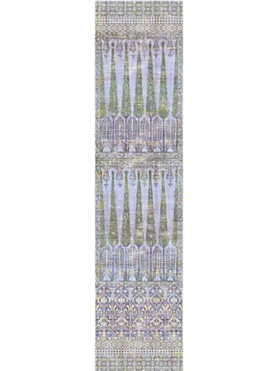 TOPKAPI GARDEN - PANEL - GOLD PURPLE - NICOLETTE MAYER WALLPAPER - WNM1017TOPK at Designer Wallcoverings and Fabrics, Your online resource since 2007