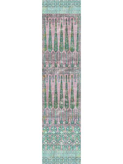 TOPKAPI GARDEN - PANEL - GREEN PINK - NICOLETTE MAYER WALLPAPER - WNM1022TOPK at Designer Wallcoverings and Fabrics, Your online resource since 2007