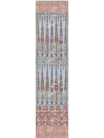 TOPKAPI GARDEN - PANEL - TURQUOISE RED - NICOLETTE MAYER WALLPAPER - WNM1047TOPK at Designer Wallcoverings and Fabrics, Your online resource since 2007