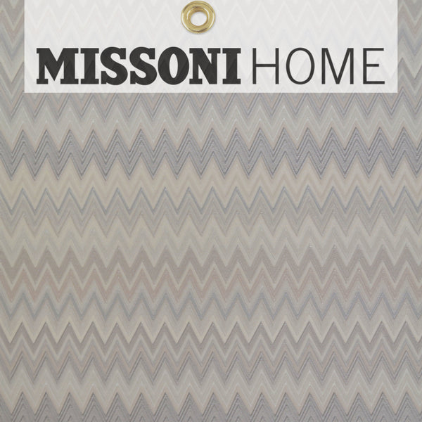Missoni Home Zig Zag Multicolore Wallpaper - Cream/Silver/Warm G