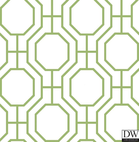 Circuit Green Modern Ironwork Wallpaper
