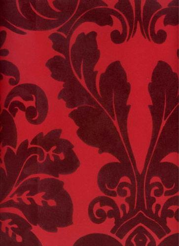 Kelly Deco Velvet Flocked Wallpapers