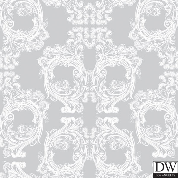 Skull Damask - Version 4.0 -Close Up - Pattern Design Lab