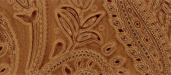 Prive������ - Paisley Faux Leather  - Acorn