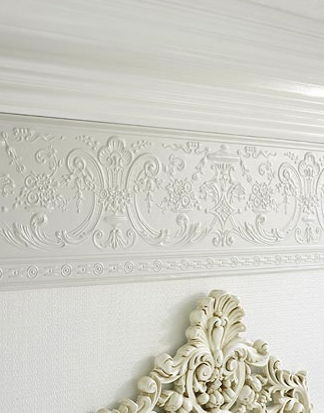 Deedee Dado - Paintable Embossed Walls - Freixe Empire