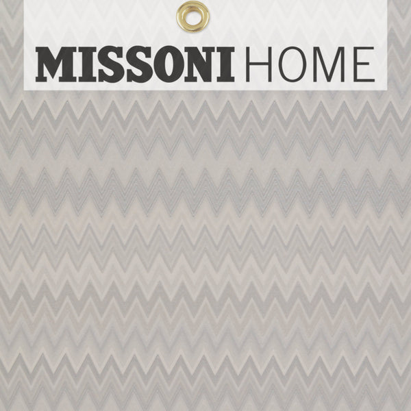 Missoni Home Zig Zag Multicolore Wallpaper - Silver/Warm Grey/Cr