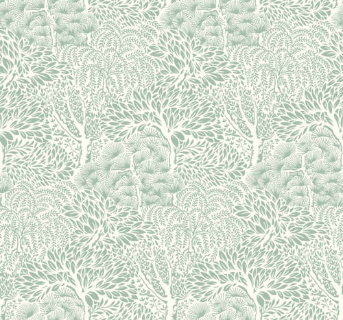 Mei Secret Garden Wallpaper - Greens