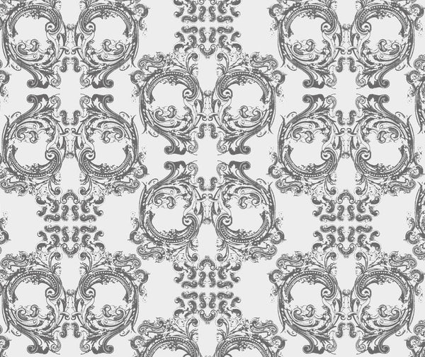"Skull Damask - Version 3.0 -Close Up - 10"" Repeat - Pattern Desi"