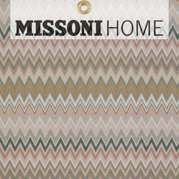 Missoni Home Zig Zag Multicolore Wallpaper - Blush/Jade/Warm Gre