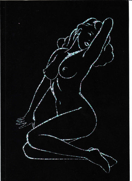 50' Pinup Silhouette  - Silver and Black Haze