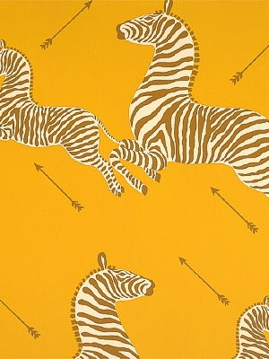 Zoe's Zebra Wallpaper - Gold by Scalamandre