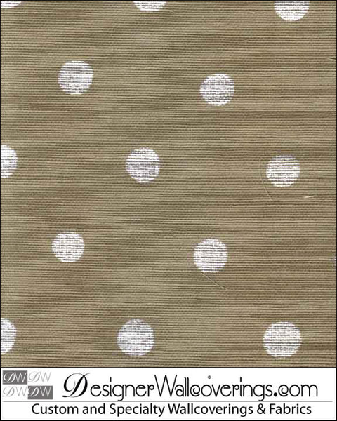 Le Dot Grasscloth - Polka Dot Wallpaper