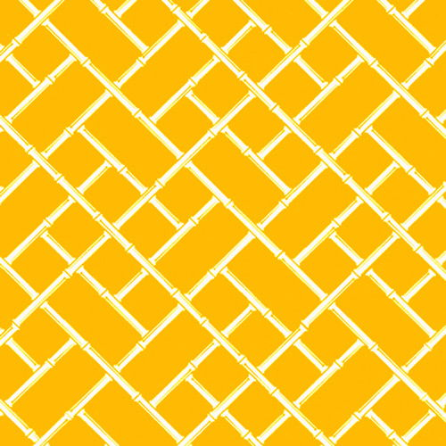 Bamboo custom vintage modern wallpaper: yellow