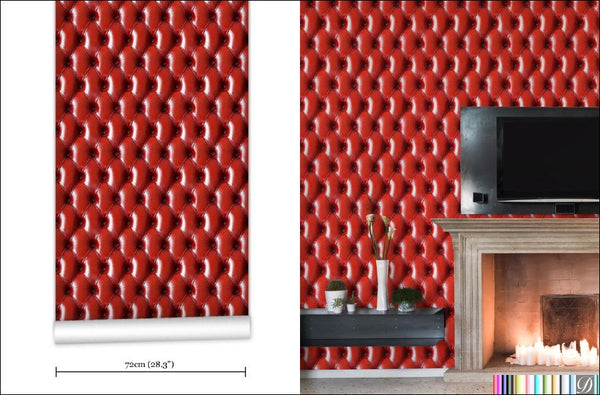 Chalbury Red Tufted Wallpaper
