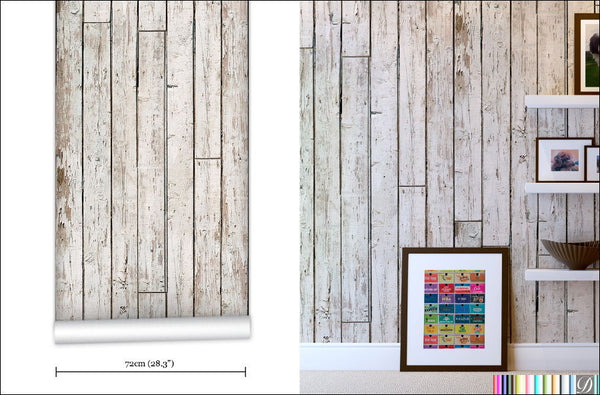 Pally Post Office Wood Wallpaper