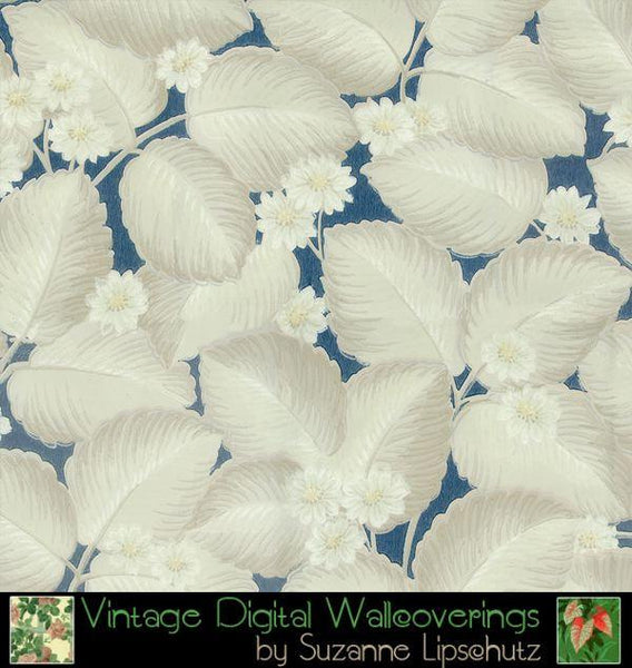 Suzanne Lipschutz Vintage Digital Reproduction Wallpaper - Pat - Designer Wallcoverings and Fabrics