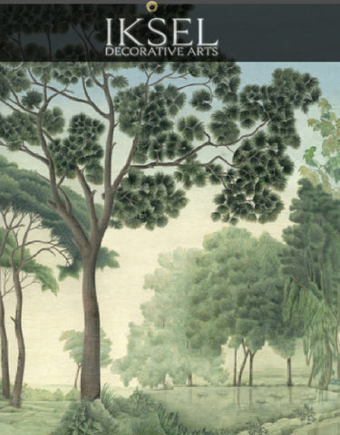 Italian Panoramic Chinoiserie Wall Panels · IKSEL