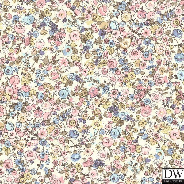 Pradera Blush Vintage Floral Wallpaper