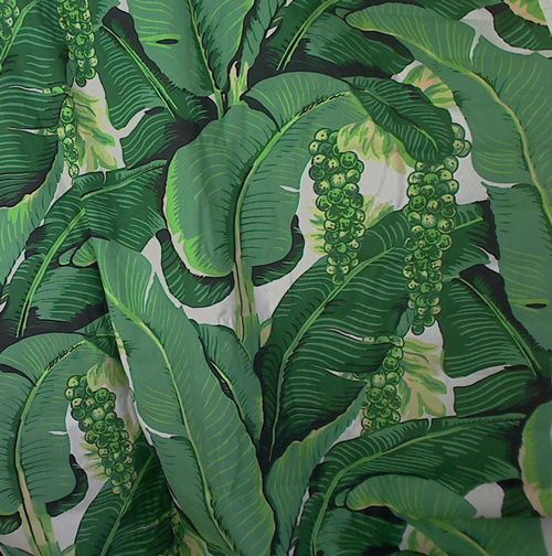 Cote D'Azure - Brazilliance Banana Leaf & Grape FABRIC