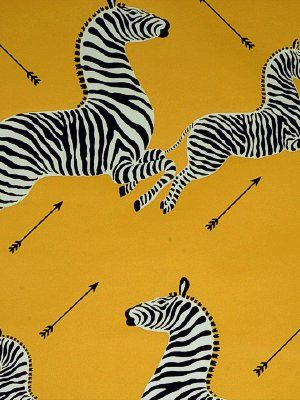 Zoe's Zebra Wallpaper - Yellow BY SCALAMANDRE