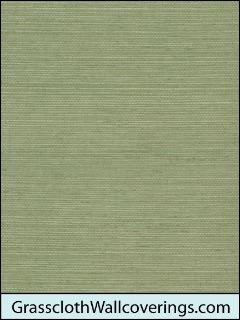 Sansai Sisal Grasscloth-Muted Lime Green