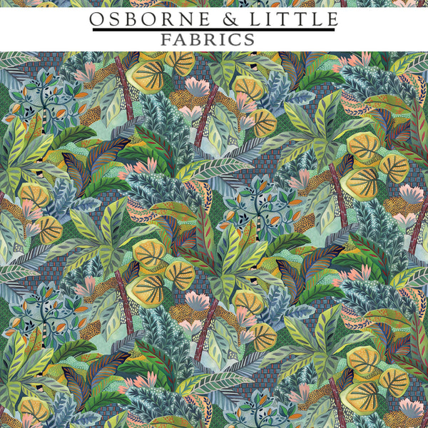 Osborne & Little Fabrics #F7446-01 at Designer Wallcoverings - Your online resource since 2007