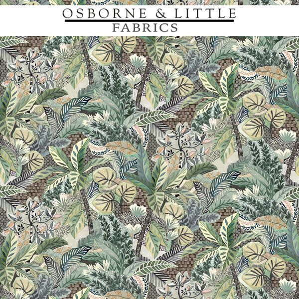 Osborne & Little Fabrics #F7446-02 at Designer Wallcoverings - Your online resource since 2007