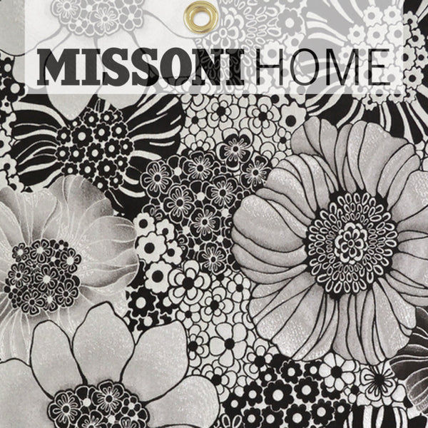 Missoni Home Anemones Wallpaper - Black/Silver
