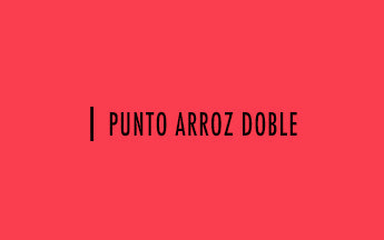 Palillo #14: Punto arroz doble