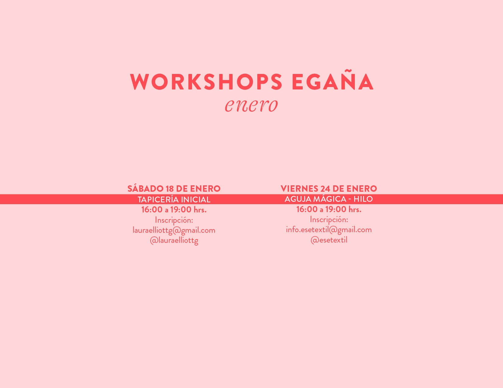 workshops plaza Egaña