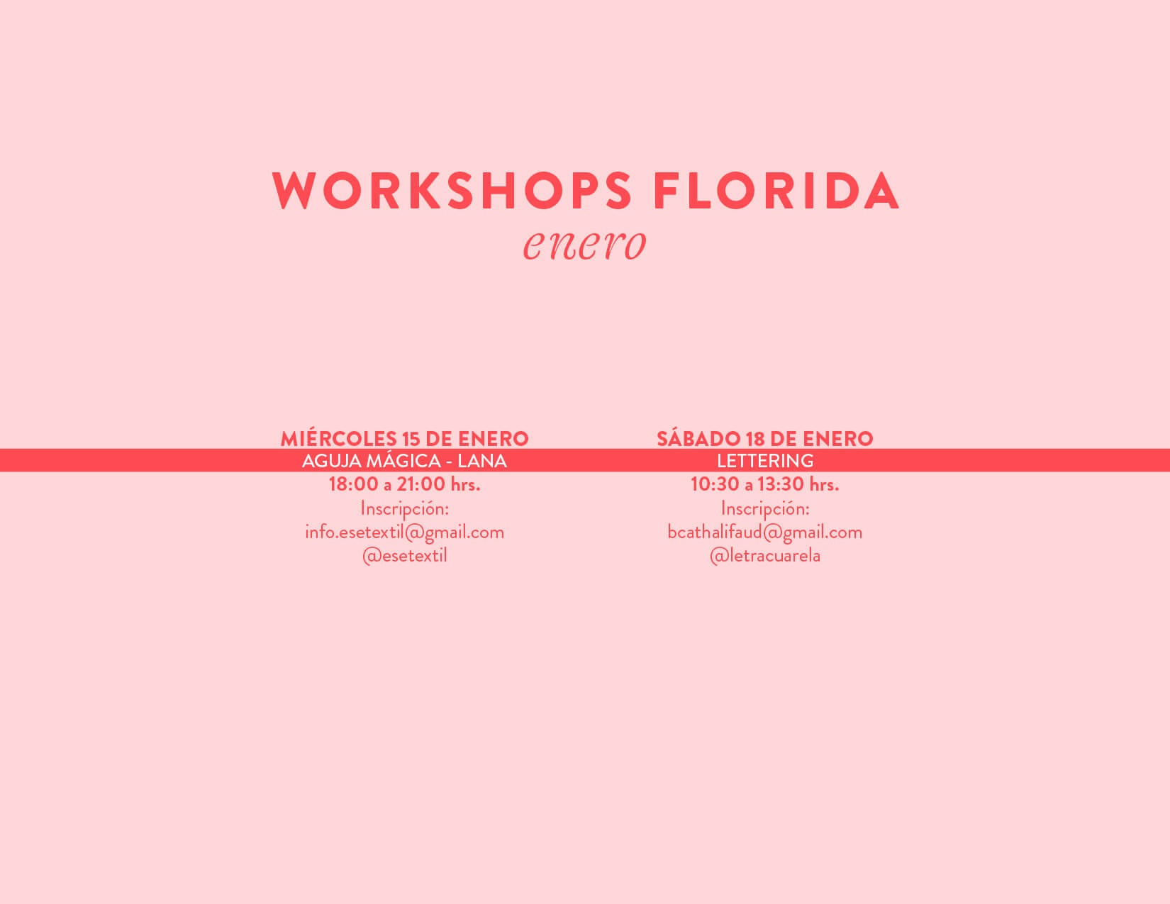 workshops la Florida