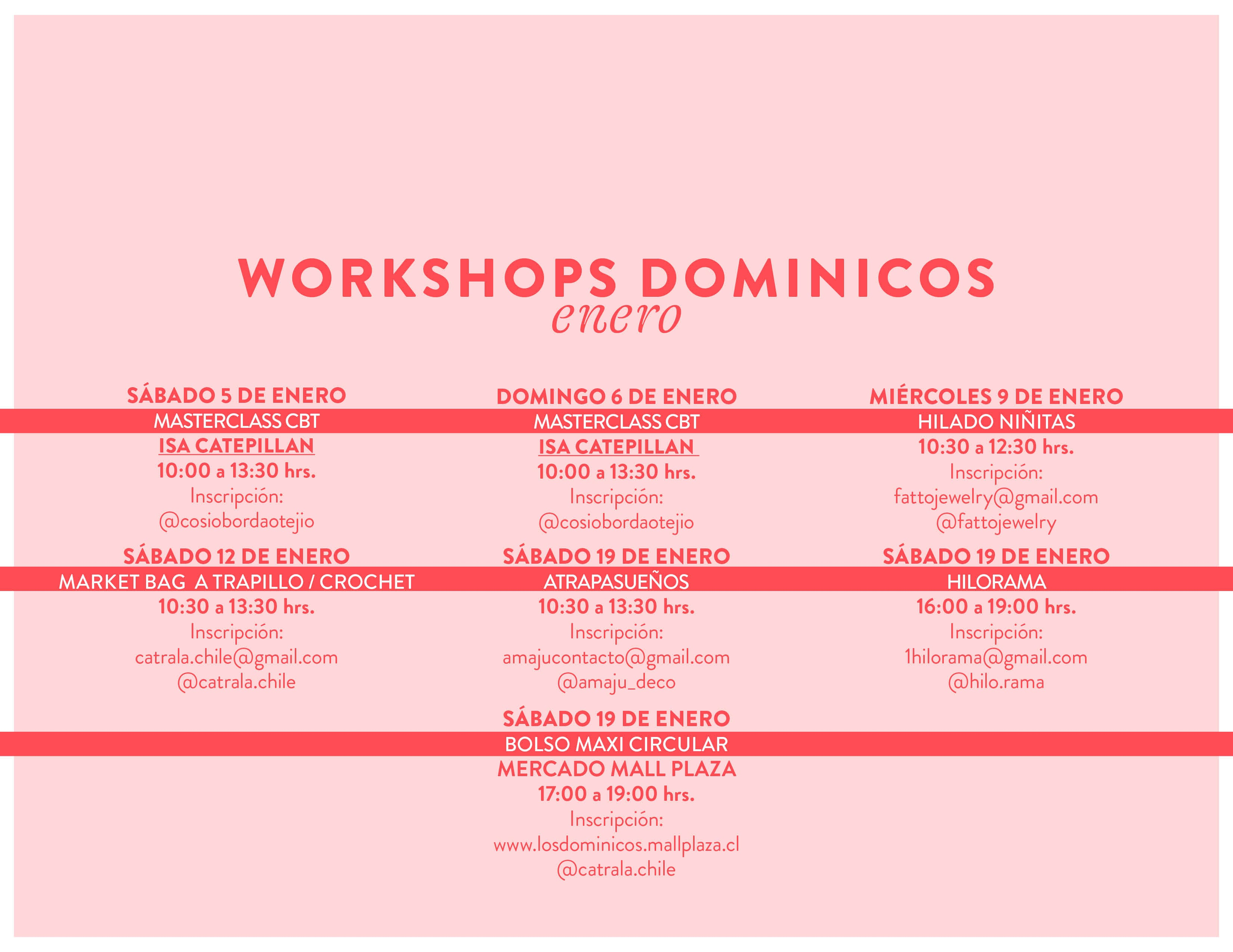 workshops dominicos